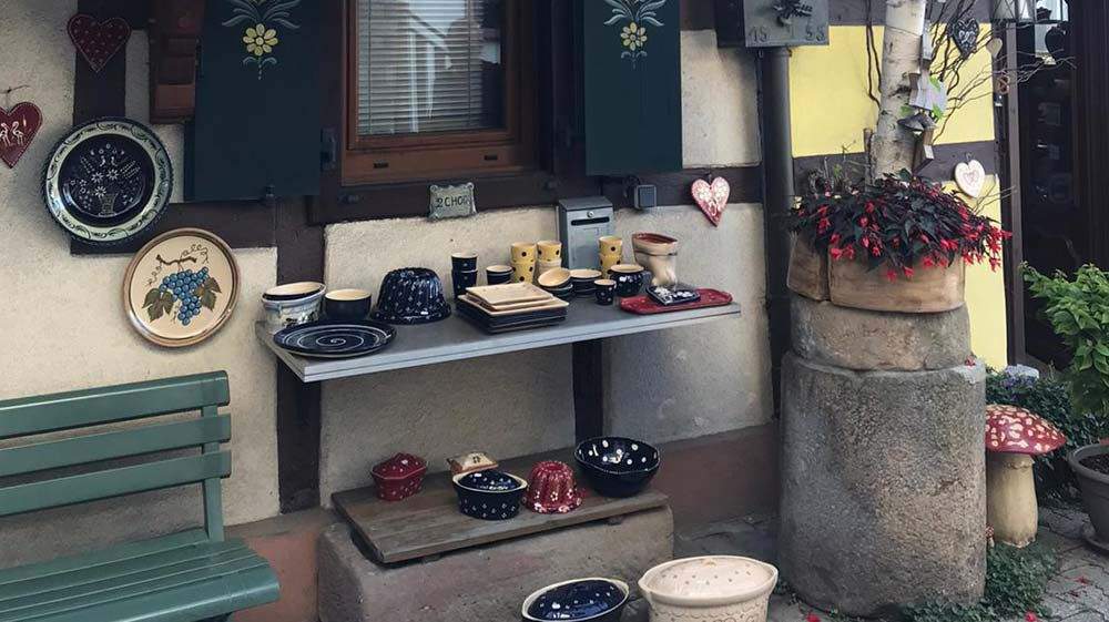 Alsace Pottery shops