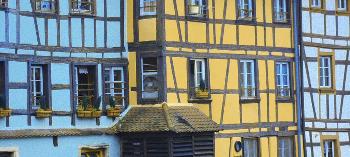 Colorful timbered houses of Alsace France