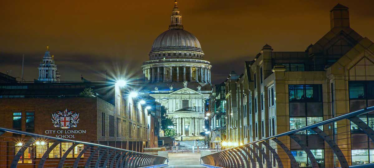 Nightscape of London England