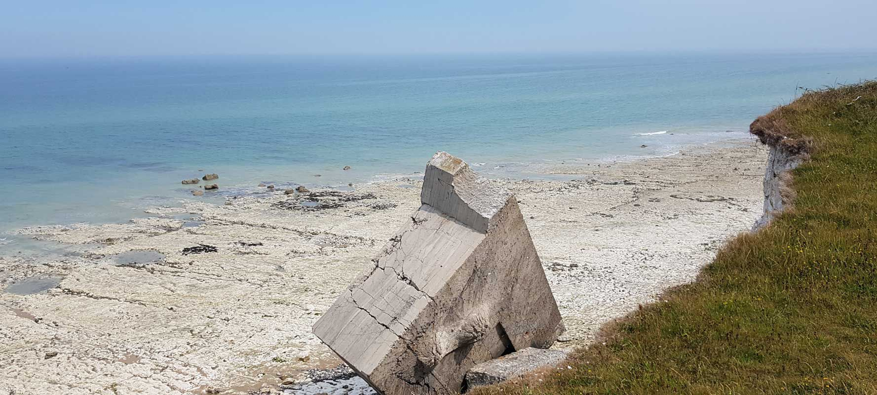 Normandy Beach Ruins