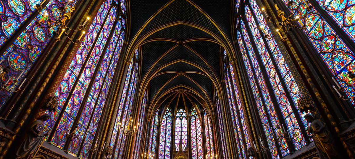 Notre Dam Stained Glass Paris France