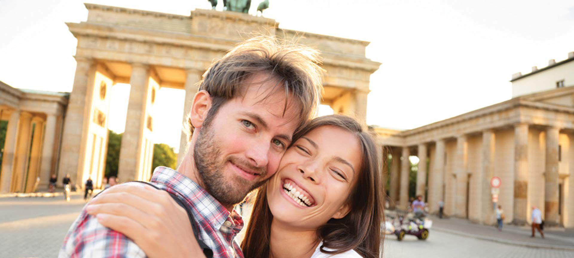 Couple touring Berlin Germany