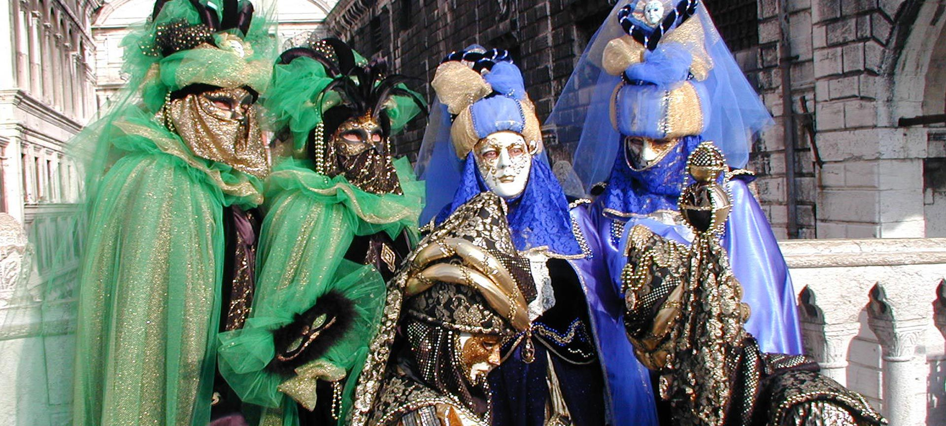 Traditional Carnivale costumes of Venice